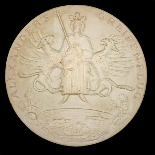 Medaille - Entwurf (Otto-Lilienthal-Museum CC BY-NC-SA)